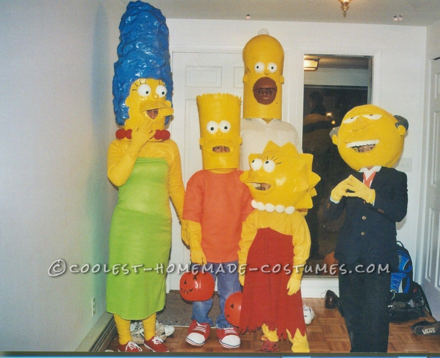 coolest paper mache simpsons family costumes | coolest homemade