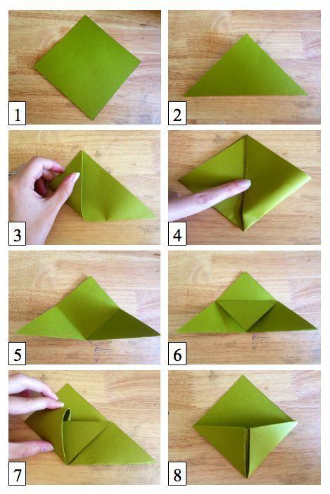 Origami Lesezeichen Anleitung