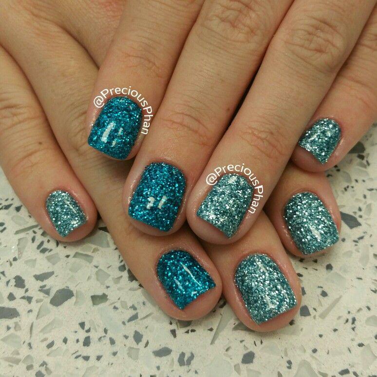 Loose glitter nails! Blues. | Precious Phan♥ | Pinterest | Loose ...