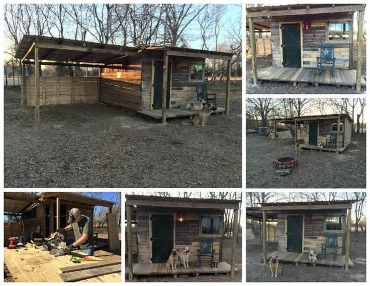 Tiny Off Grid Cabin Made from Pallets & Reclaimed Lumber #recyceltepaletten