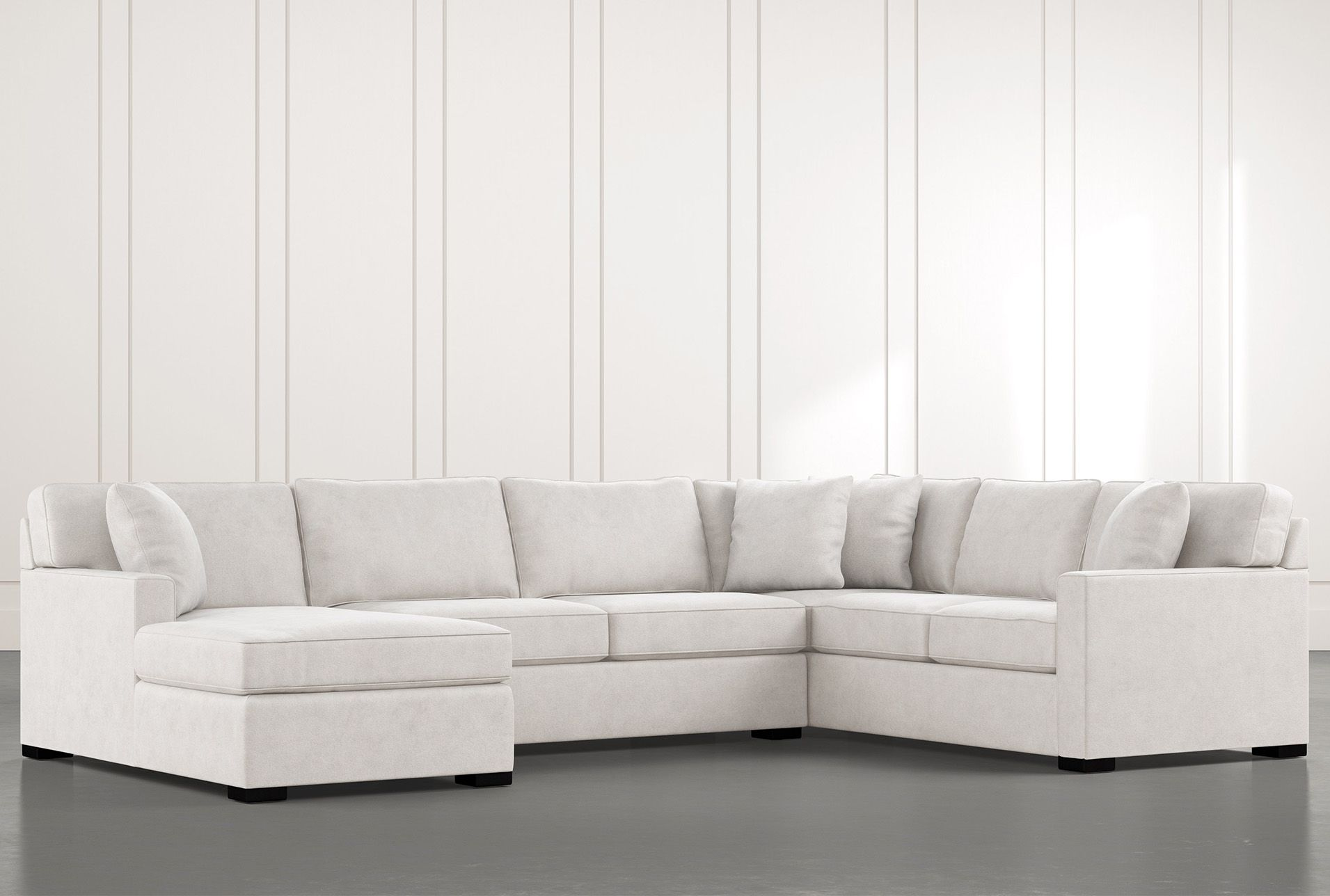 Alder Light Grey 3 Piece Sectional With Left Arm Facing Chaise In
