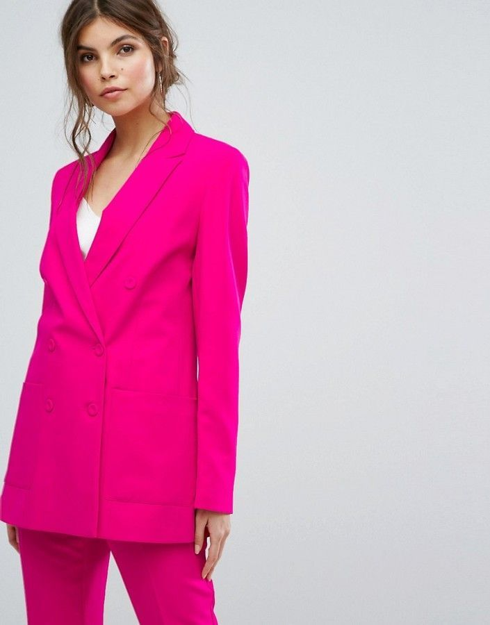 f19ad7aff7b9 Oasis Tailored Double Breasted Blazer | Shop the look products ...