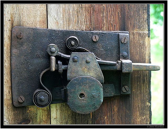 Old door lock | Doors | Door locks, Door knob lock, Doors