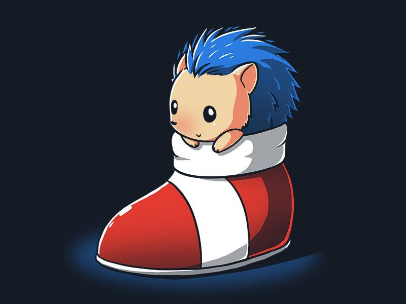 """Support your little speedster in training! You'll love this """"Little Blue Hedgehog"""" at TeeTurtle.com! The premiere place for all your cute and nerdy T-shirts!"""