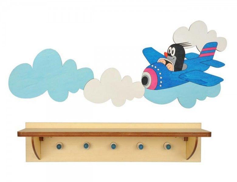 garderobe maulwurf mit flugzeug mit ablage der kleine. Black Bedroom Furniture Sets. Home Design Ideas