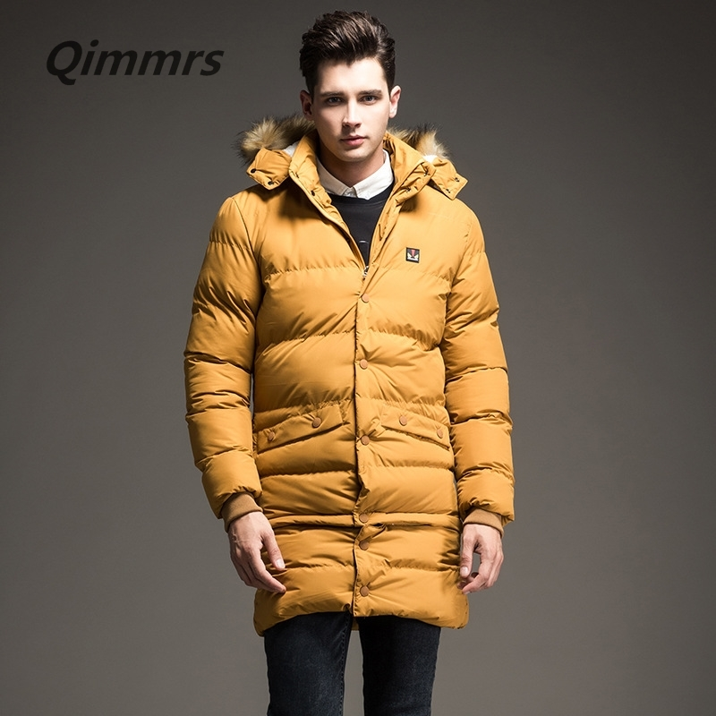 158.00$  Buy here - http://aligj8.worldwells.pw/go.php?t=32781797520 - 2016 Top Quality Warm Men's Parka Winter Yellow Down Jacket Waterproof Casual Outerwear Thick Medium Long Coat Men Parka M-3XL D