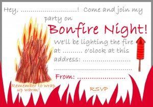 bonfire night party invitation rooftop post free printables elf