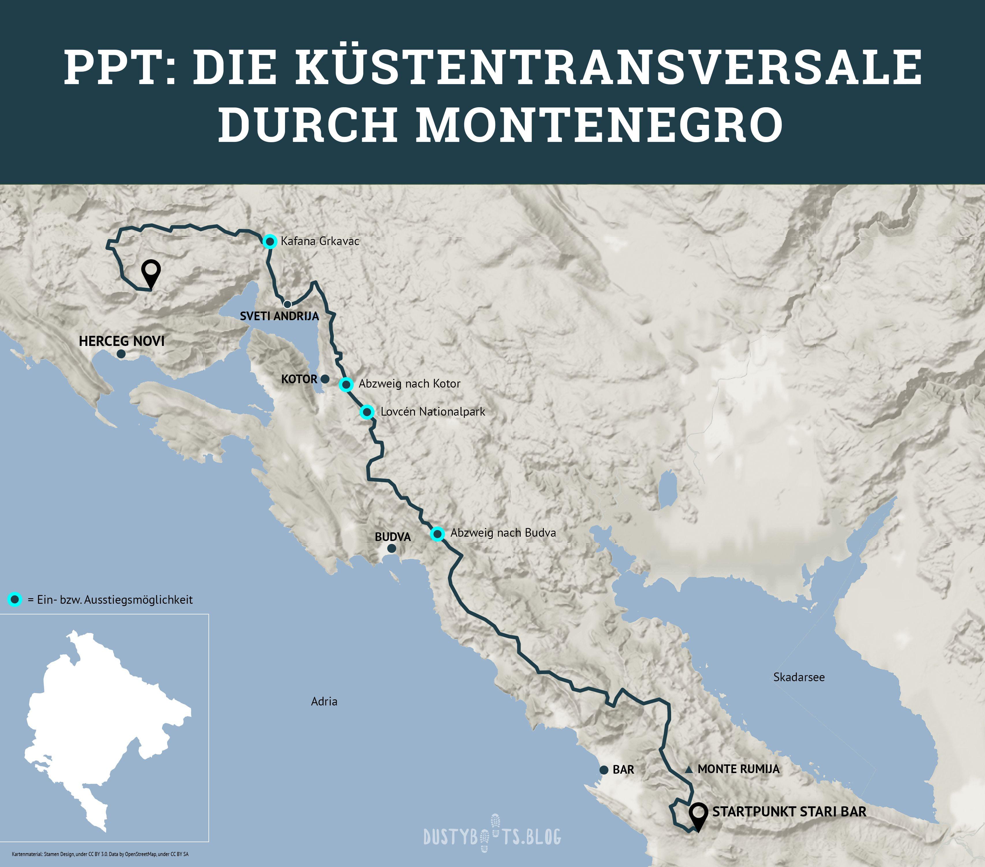 Infopaket Zum Ppt Kustentransversale Durch Montenegro