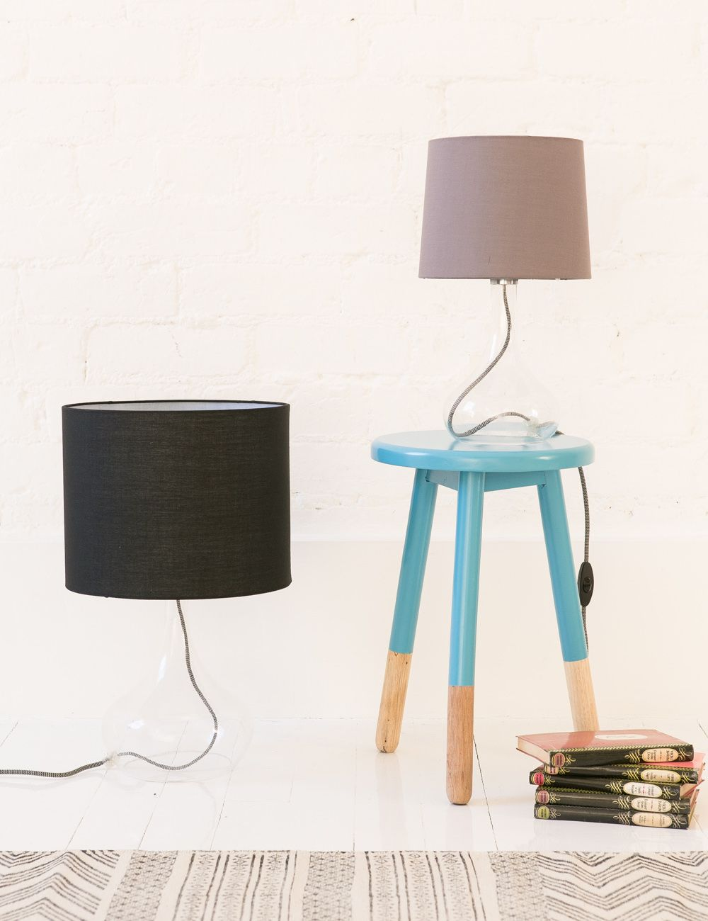 Cable And Gl Table Lamp Online Now From Rose Grey