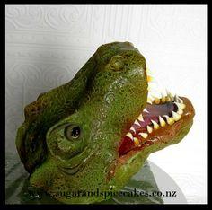 Roarrrr T Rex Head Cake Topper By Melsugarmama