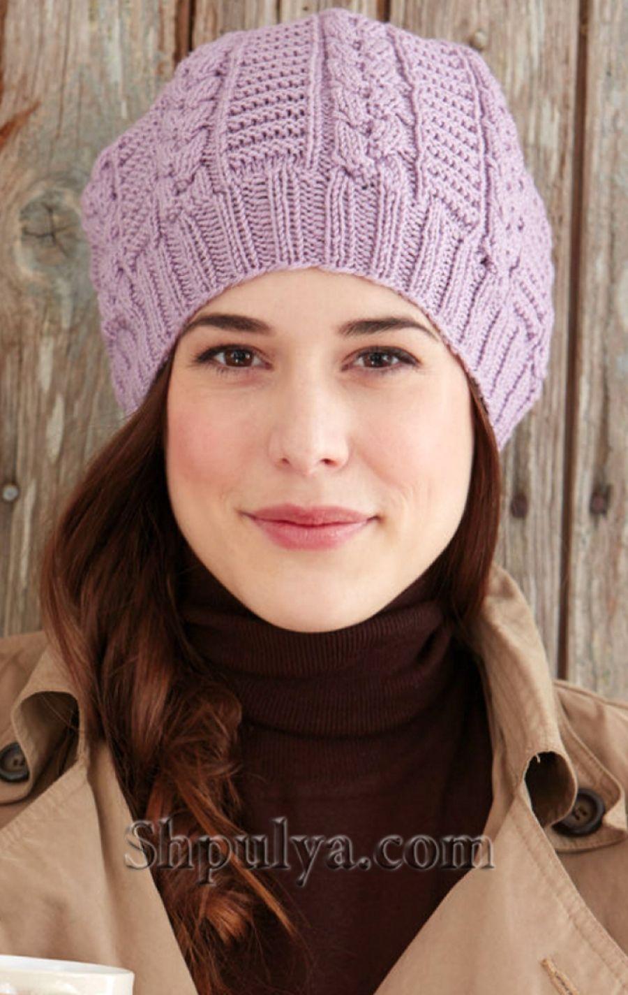 Вязаная шапка спицами | ВЯЗАНЫЕ ШАПКИ БЕРЕТЫ | Pinterest | Gorros ...