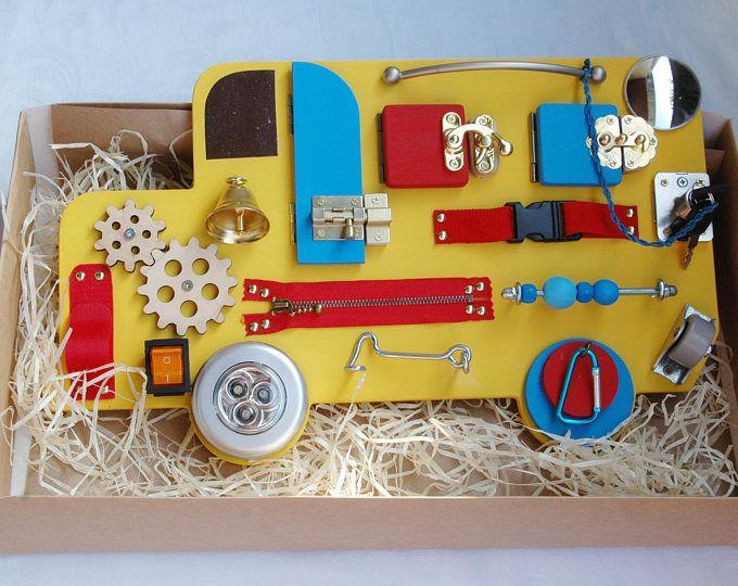 Sensory board Baby montessori gift for toddler boy girl ...