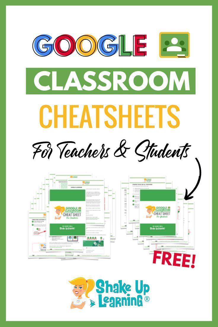 Right now, teachers are seeking lots of extra resources to help with home learning during this unexpected school closure period. Here are some Google Classroom Cheat Sheets for Teachers and Students! #googleclassroom #edtech | shakeuplearning.com