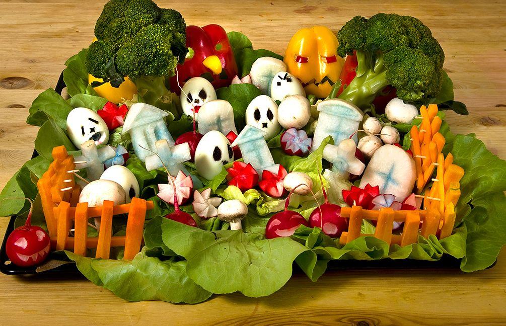 GemüseFriedhof Halloween rezepte, Halloween essen