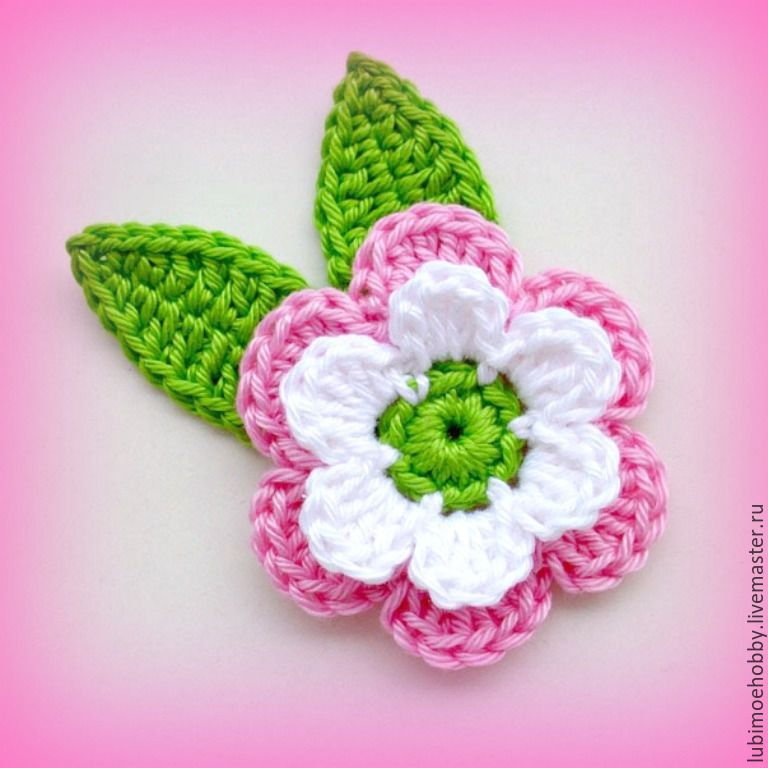 Цветы и аппликации вязаные крючком | Инструкция по вязанию ...