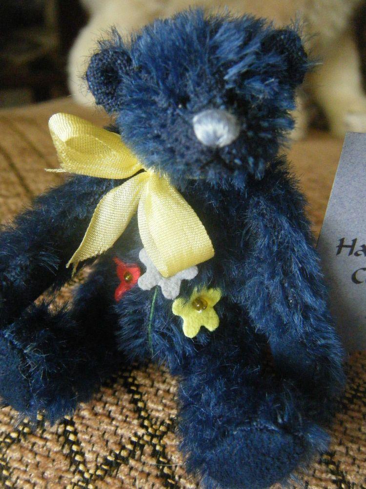 Deb Canham Charlie Charm Blue Mohair Miniature BEAR LE Have A Heart Collection
