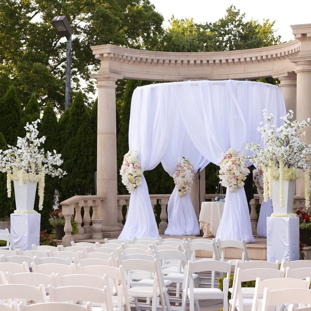 Decor ideas for traditional wedding  his traditional chuppah takes on a fresh look by being built uc in