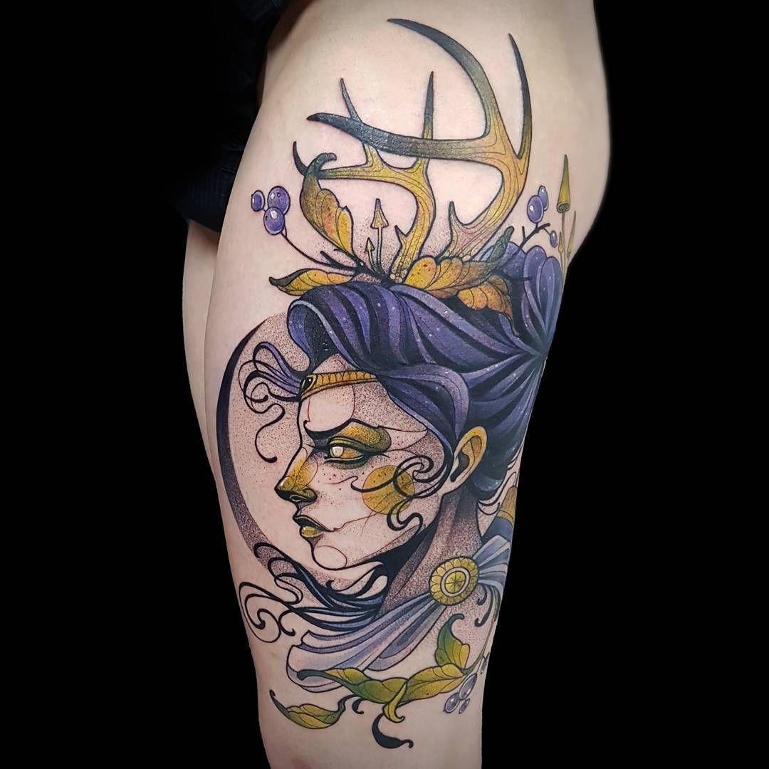 Tattoo artist Kati Berinkey sketch neo traditional tattoo