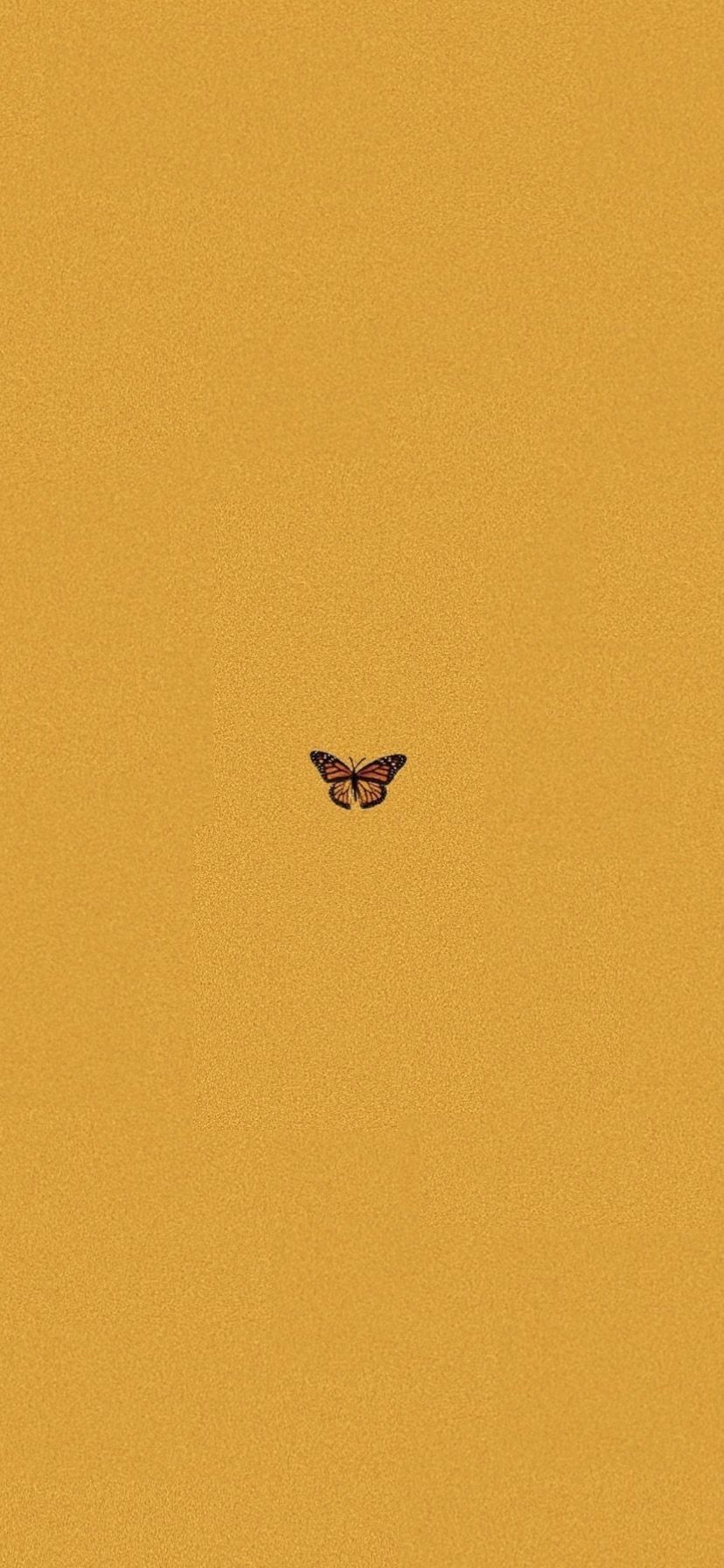 Wallpaper, yellow aesthetic butterfly IPhone X
