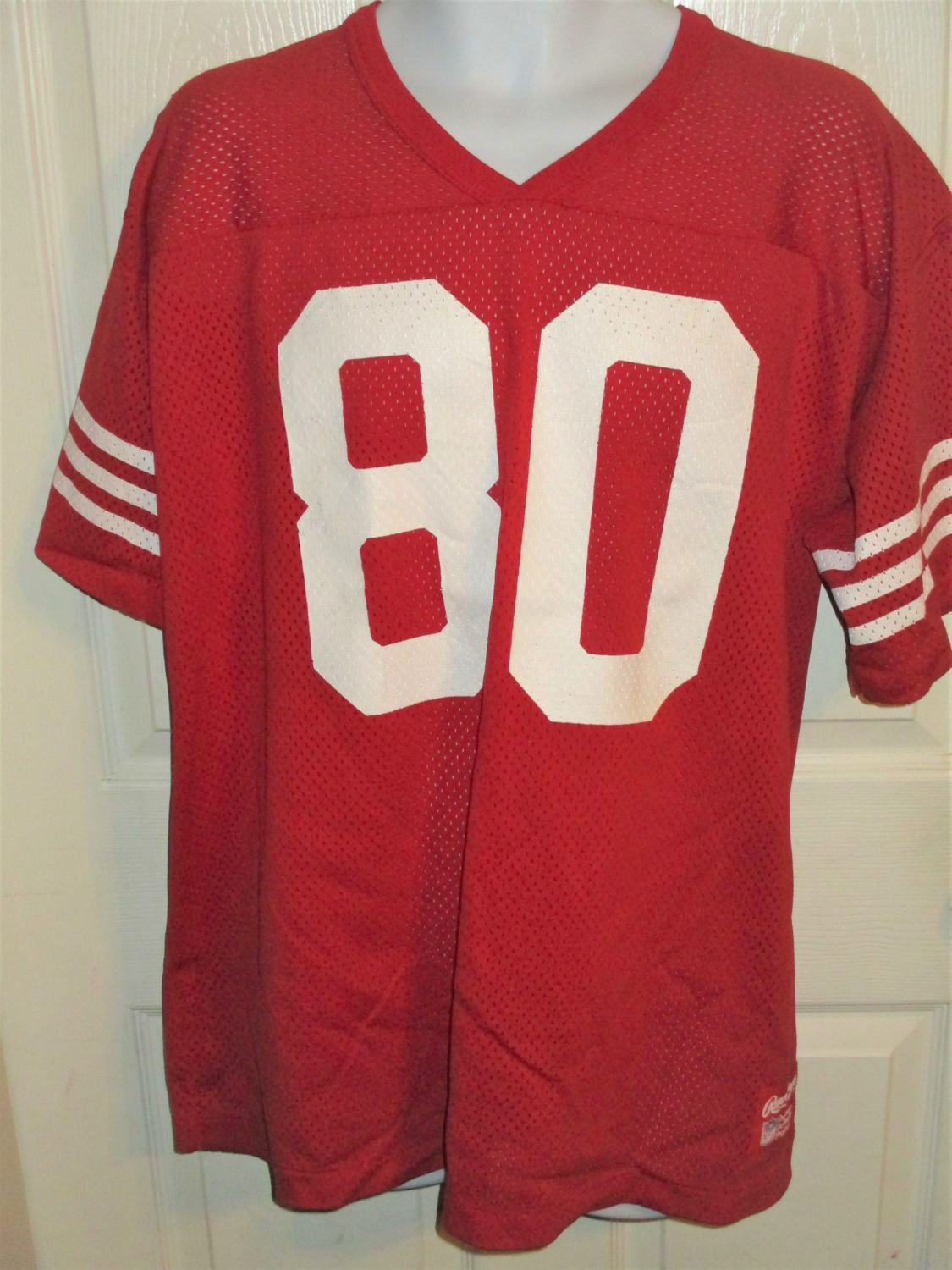 new product a794c 9644e 1980's Rawlings SAN FRANCISCO 49ers Niners #80 Jerry Rice ...