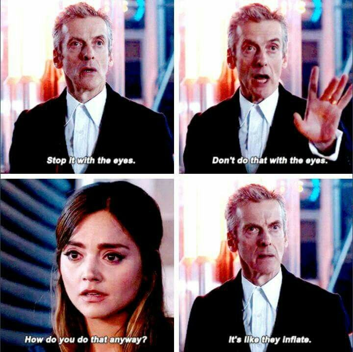 Image result for clara oswald eyes inflate