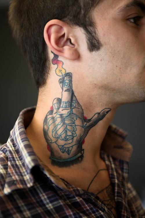 Neck Tattoos Designs For Men Bujji Pinterest Tattoos Neck
