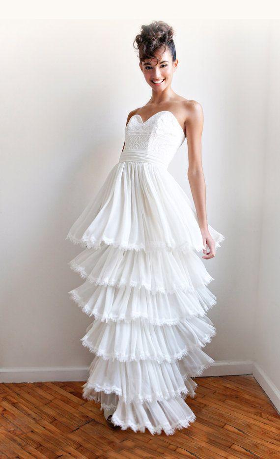 Price Drop--Ellie--2 Piece, Lace and Cotton Wedding Dress--ONLINE ...