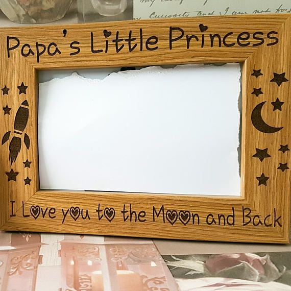 Daddy\'s Little Princess photo frame Gifts for men | Shop Small. Buy ...