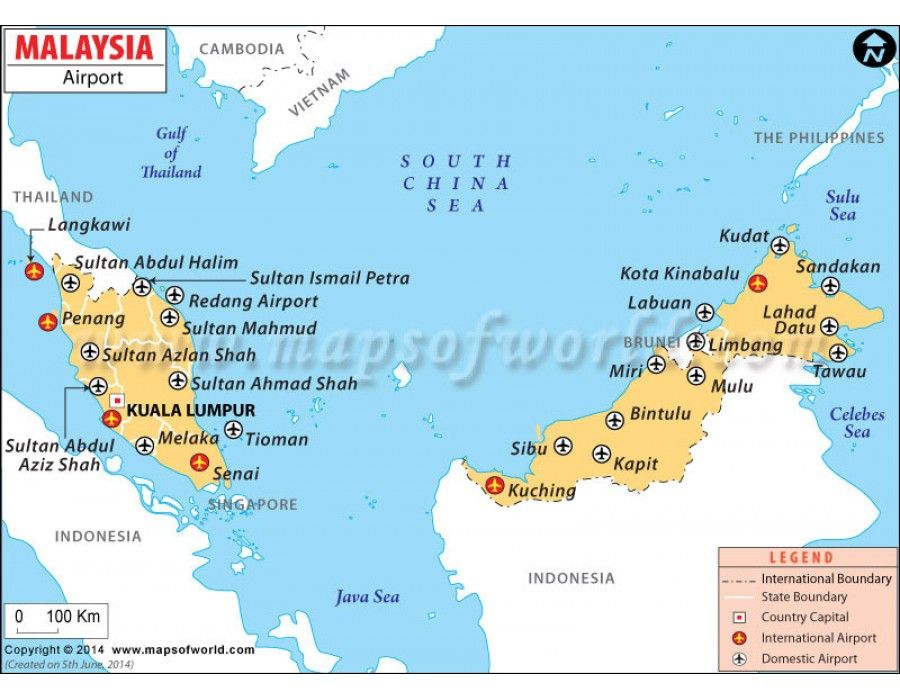 Buy Malaysia Airports Map Online Airport Map Map Country Maps