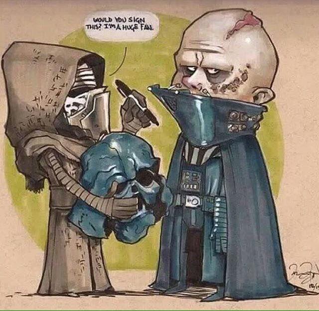 Star wars the force awakens darth bader kylo ren