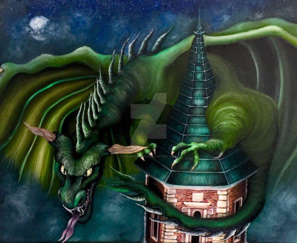 Wawel Dragon By Katharine Bartosz Painting Drawing Artist Art
