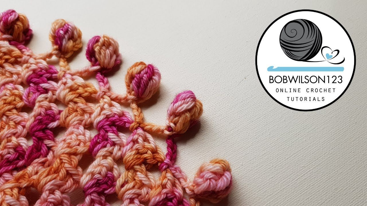Crochet Pompom Edging Tutorial Watch And Learn Crochet Crochet