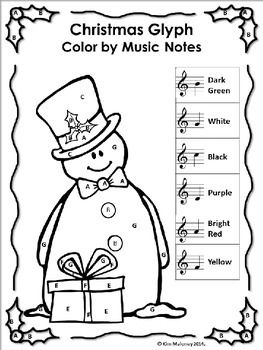 Christmas Music Activities: 24 Christmas Music Color by