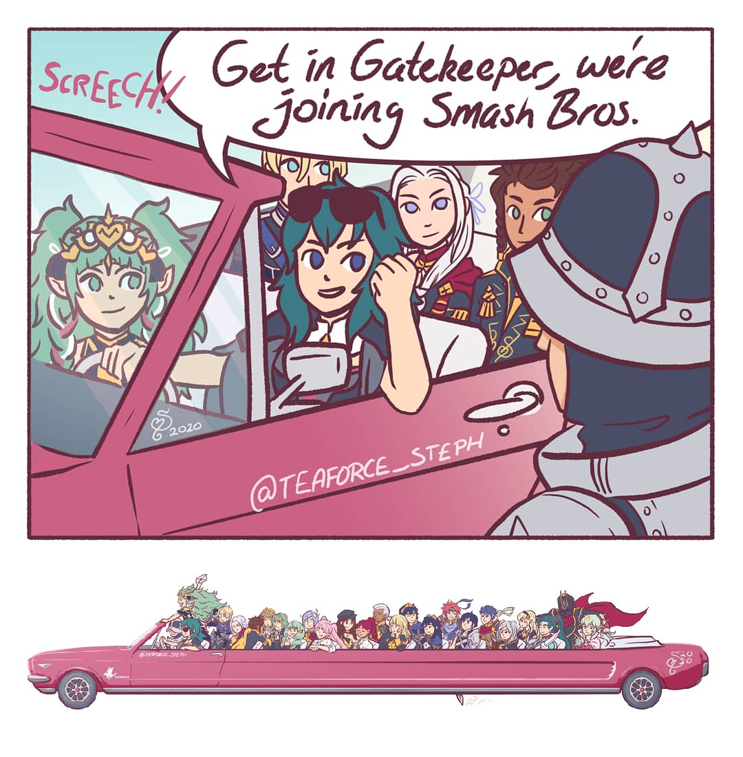Byleth And The Squad Rock Up To Ssbu In This Monstrosity While