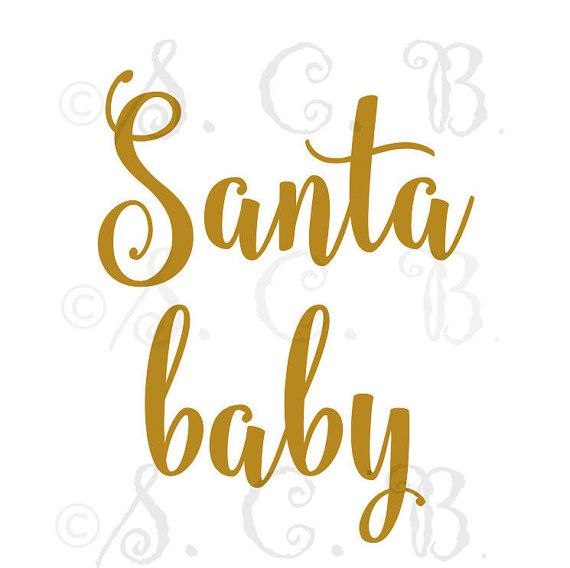 Santa Baby SVG File download