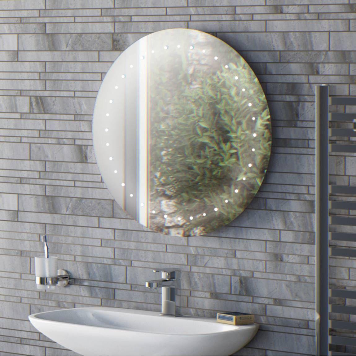 Aries Led Round Mirror Round Mirror Bathroom Mirror Led Mirror Bathroom