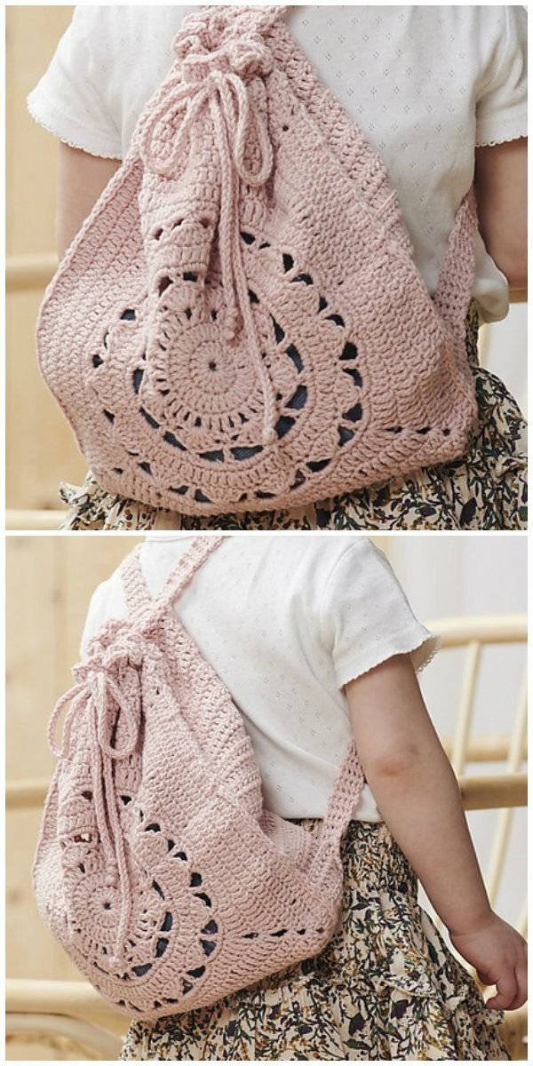 Summer Backpack Crochet #backpacks