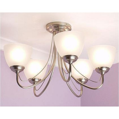 Westinghouse Ramsgate 5 Light Brushed Nickel Chandelier with
