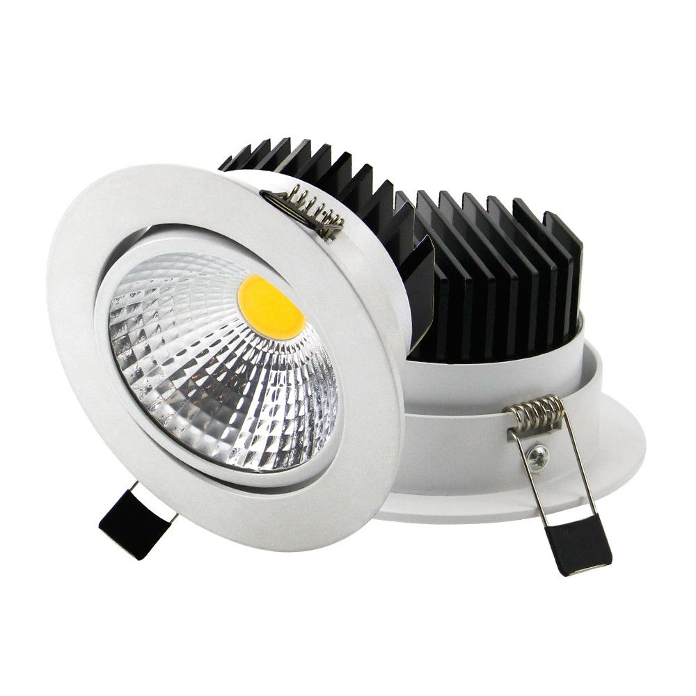 Lights & Lighting 2019 New Style Dimmable Led Downlight Light Cob Ceiling Spot Light 7w 10w 85-265v Ceiling Recessed Lights Indoor Lighting White Black Silver