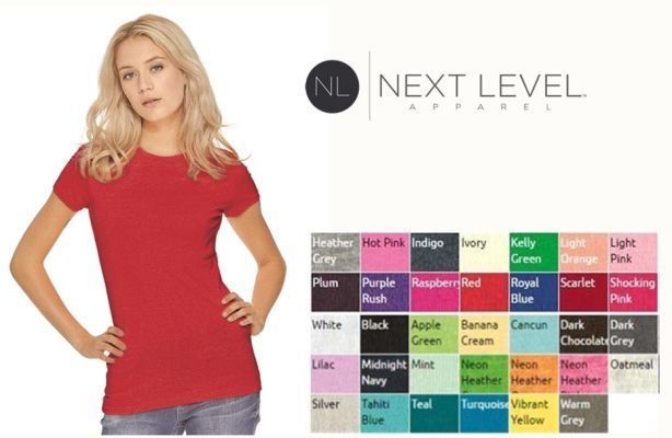 Next Level 3300L Ladies Perfect Tee from NYFifth