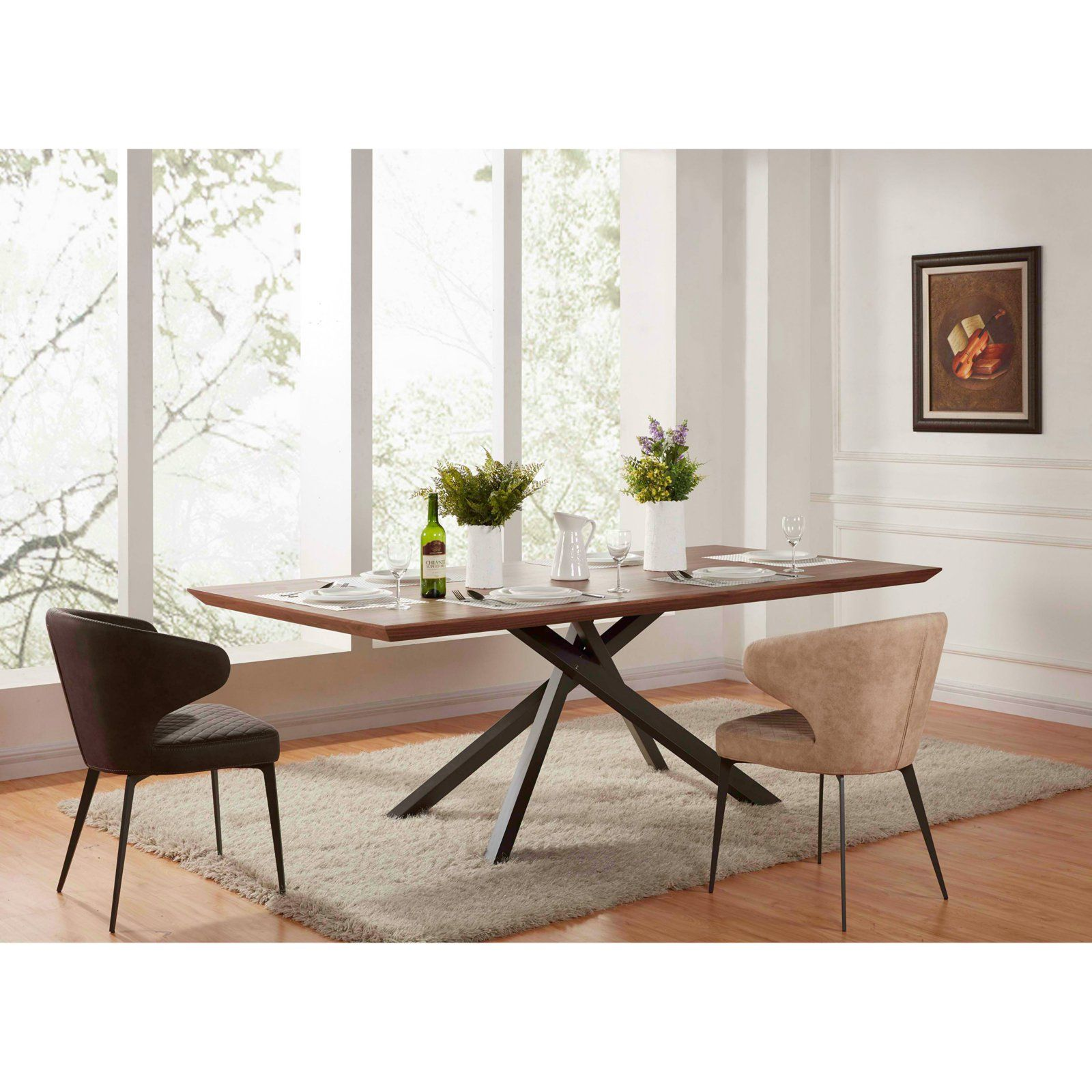 New Pacific Direct Inc Moreno Rectangular Dining Table Dining