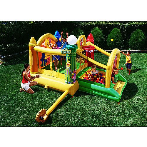 Sesame Street Combination Activity Bouncer With Ball Pit