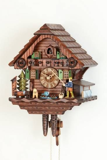 Cuckoo Clock 1-day-movement Chalet-Style 32cm by Hekas - 1673