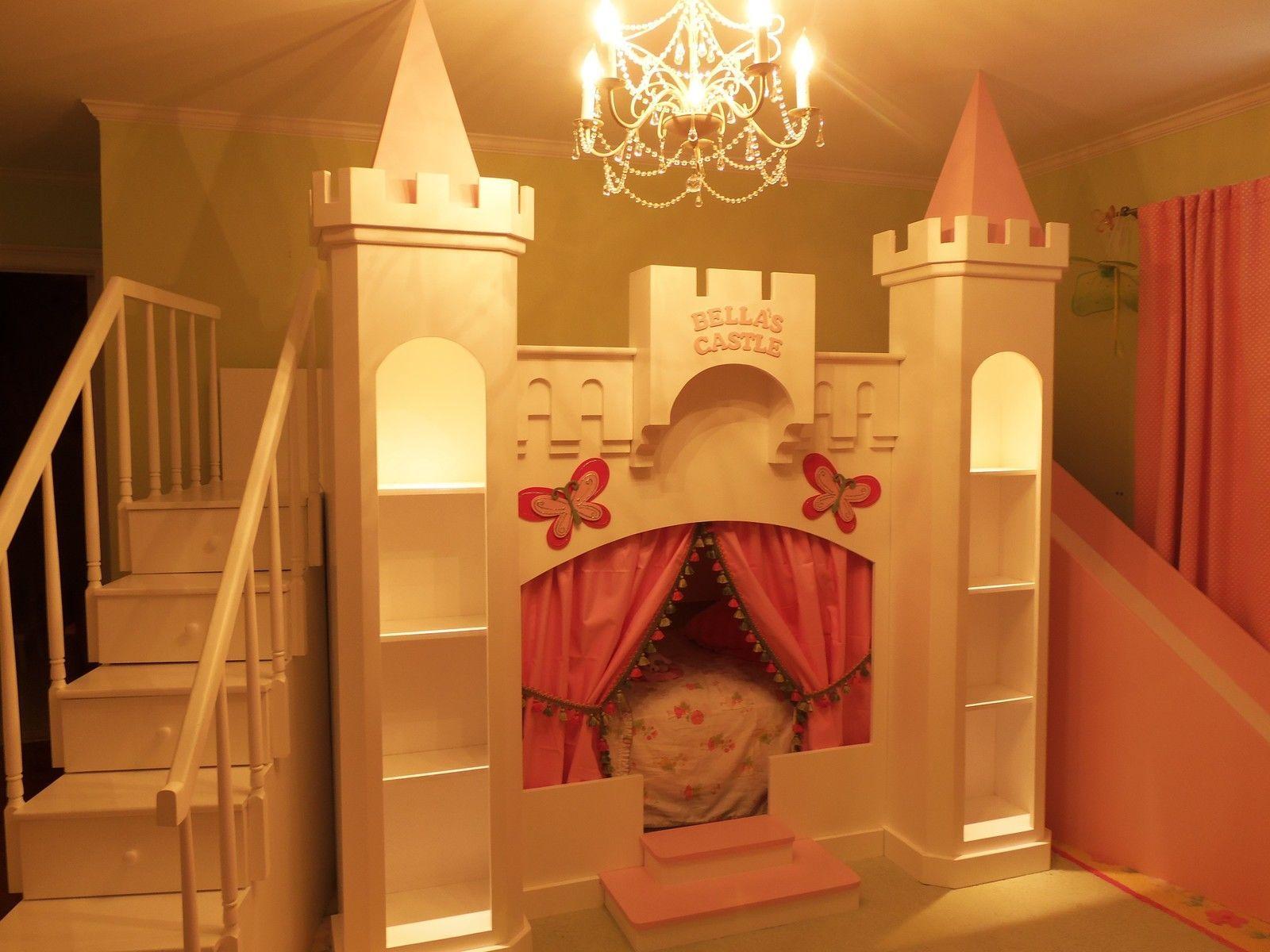 New Bella 39 S Custom Princess Castle Loft Bed Elegant