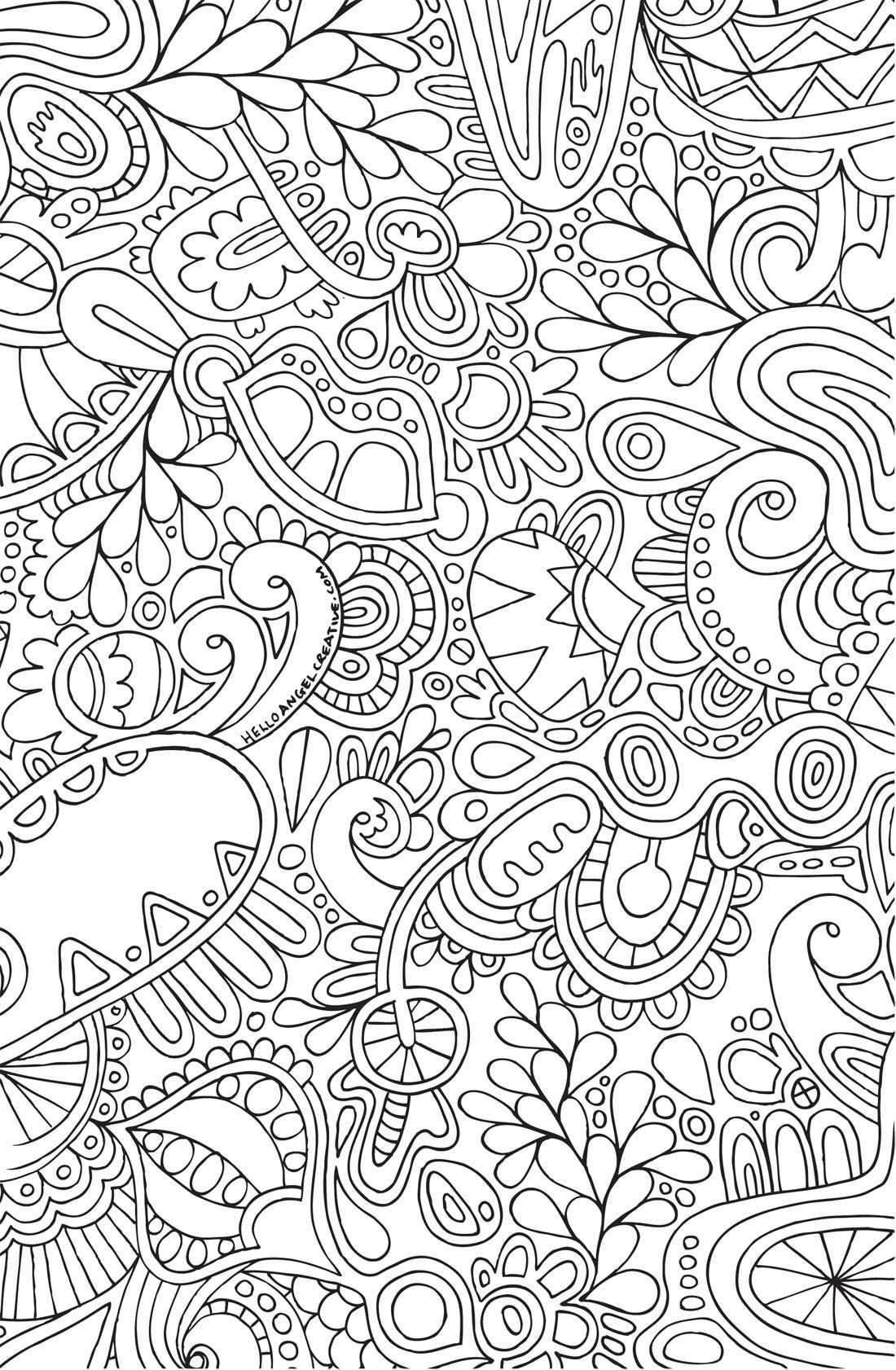 Abstract Doodle Zentangle Coloring pages colouring adult detailed ...