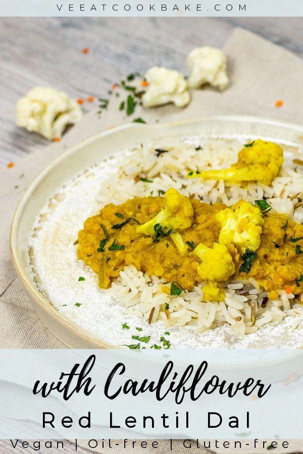 Vegan Red Lentil Dal With Cauliflower