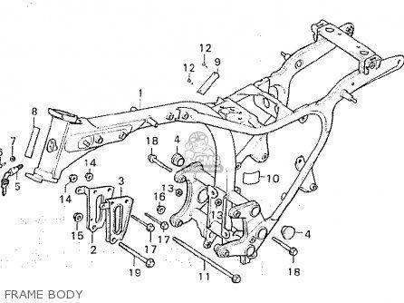 Honda Cx500c Custom 1981 b European Direct Sales Frame