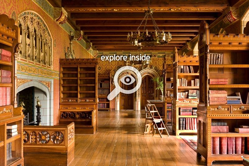 360 degree explore the Cardiff Castle Library William Burges