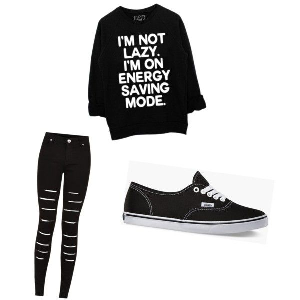 Black skinny ripped jeans. by mikelapaige-13 on Polyvore featuring polyvore art