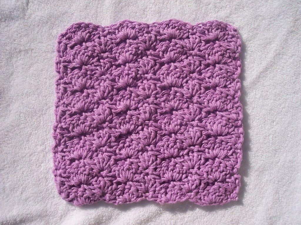 Shell Washcloth Pattern | I <3 Crochet! | Pinterest